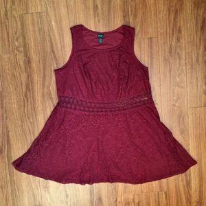 Maroon Red Rue 21 Cutout 3X Plus Size Dress